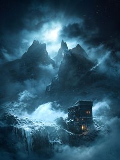 Unseen Westeros - Shadow Lands Watchtower, Dziga Kaiser on ArtStation at www. Fantasy Castle, High Fantasy, Medieval Fantasy, Fantasy World, Fantasy City, Fantasy Art Landscapes, Fantasy Landscape, Fantasy Artwork, Fantasy Places