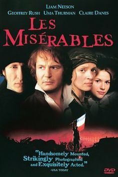 Everyone seems to like this as a musical... I like this dramatic version starring Liam Neeson.  Ex-convict Jean Valjean tries to rebuild his life to be a respectable citizen. However, police inspector Javert relentlessly hounds him and won't let him escape his past.