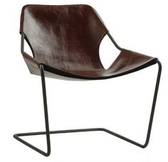 The Paulistano armchair in leather