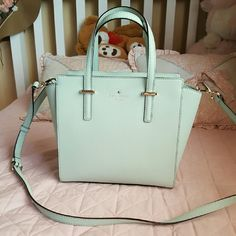 Kate spade small hayden Like new Only worn a couple of times. No scratches and the interior is clean. The color is mint mojito. kate spade Bags Satchels