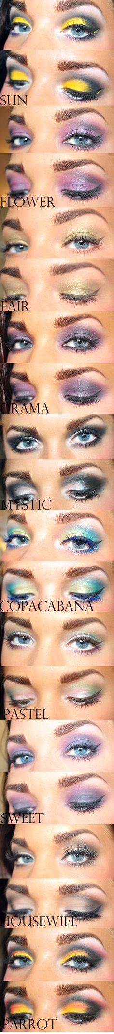 all kinds of looks for blue eyes!