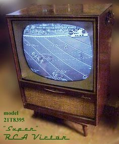 I shudder to think of what could have happened. What happened was bad enough. Of course, you know I was a curious child, which ha. Vintage Television, Television Set, Vintage Records, Vintage Tv, Tvs, Radio D, Antique Shelves, Vintage Appliances, Tv Sets