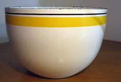 Kaj Franck Finel Black & Yellow Stripe Bowl by sputnikhousewares, $95.00