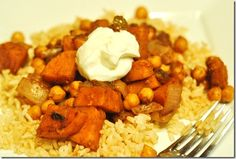 Indian Sweet Potato and Chickpea Sauté #vegan