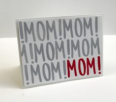 MOM! MOM! MOM! Perfect Mother's Day Card! :: Confessions of a Stamping Addict Lorri Heiling Swap from Peggy Powers
