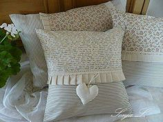 Wonderful Useful Tips: Shabby Chic Living Room Blue shabby chic office baby girls.Shabby Chic Home Interior. Shabby Chic Dining, Shabby Chic Pillows, Shabby Chic Living Room, Shabby Chic Interiors, Shabby Chic Homes, Shabby Chic Furniture, Shabby Chic Decor, Chic Bedding, Sewing Pillows