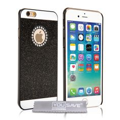 Yousave Accessories iPhone 6 and 6s Flash Diamond Case - Black | Mobile Madhouse