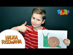 Nauka rysowania dla dzieci - Rysowanie Ślimaka - Kiddoland