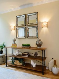Transitional Decor With Industrial Touch in Open Layout Decorated for Entertaining from HGTV