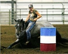 Bareback Barrel Racing. im gonna be able to do that someday!