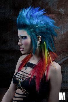 punk girl, futuristic girl, cyberpunk girl, cybergoth girl, neo punk, neo goth, cyber style, cyber look, futuristic style, futuristic look by FuturisticNews