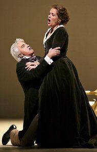 Renée Fleming with Dmitri Hvorostovsky in Eugene Onegin