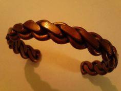 Antique Native American Braided Copper Cuff by SpiralHawkStudio, $25.00