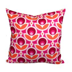 """Retro Cushion Cover """" Notting Hill"""" Fabric & Organic Cotton,  Throw Pillow 16"""" on Etsy, $26.77"""