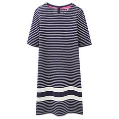 Buy Joules Marie Stripe Jersey Dress, Soft Navy Stripe Online at johnlewis.com