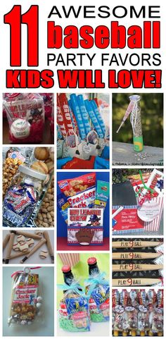 11 baseball party favor ideas for kids. Fun and easy baseball birthday party favor ideas for children.
