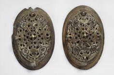 Tortoise brooches from Birka, grave 605, 10th century, Historiska Museet, Stockholm