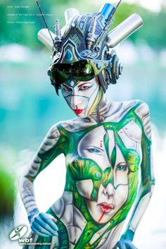 TODAY'S NEWS! Model of the Year from World Bodypainting Festival - official 2014 announced! Well done Shlomit Migay! You rocked last years festival! Artist - Alex Hansen Photo - Tobias Spranger