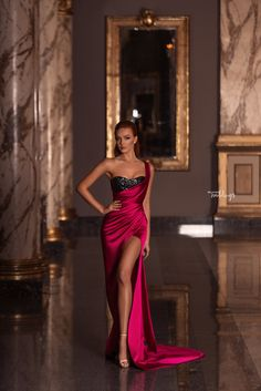 WONÁ Wedding Dresses and Evening Gowns 2020 - Belle The Magazine Source by briawade gowns 2020 Gala Dresses, Satin Dresses, Elegant Dresses, Sexy Dresses, Beautiful Dresses, Fashion Dresses, Wedding Dresses, Red Satin Prom Dress, Reception Dresses