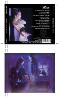 Cradle of Filth - Midian CD inlay. Client: Music For Nations. Circa 2000. © Sean Mowle.