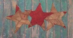 Tattered Star #Christmas Ornaments by Prairie Primitives Folk Art. Available on Etsy!