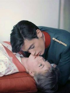 Portrait of Romy Schneider and Alain Delon for Christine directed by Pierre Gaspard-Huit, 1958 Romy Schneider, Alain Delon, Sarah Biasini, Nastassja Kinski, Cinema, Golden Age Of Hollywood, Cute Couples, Movie Stars, Actors & Actresses