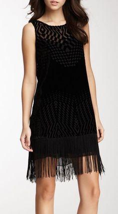 Ella Moss Marlowe Fringe Silk Blend Dress