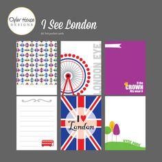 Téléchargement immédiat ! J'ai voir Londres - cartes Journal Digital pour la vie du projet, fabrication de carte, collage