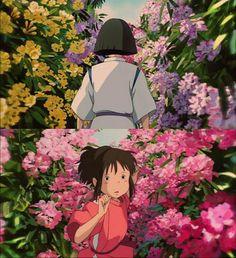 This scene is so beautiful. Studio Ghibli - Spirited Away This scene is so beautiful. Studio Ghibli - Spirited Away Art Studio Ghibli, Studio Ghibli Movies, Film Animation Japonais, Animation Film, Hayao Miyazaki, Wallpaper Studio, Chihiro Y Haku, Studio Ghibli Spirited Away, Culture Art