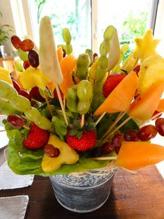 Fruit on a stick arrangement