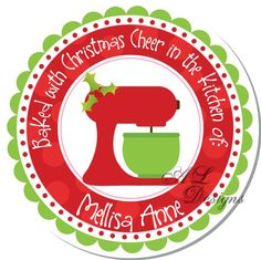 personalized tag for homemade Christmas goodies
