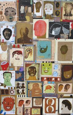 """People That I Knew"" by Scott Bergey www.etsy.com/ca/shop/ScottBergey #art #collage"