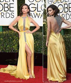 Looks Golden Globes 2017 – Red Carpet Globo de Ouro | Emily Ratajkowski por Reem Acra. http://modaefeminices.com.br/2017/01/08/looks-golden-globes-2017-red-carpet-globo-de-ouro/