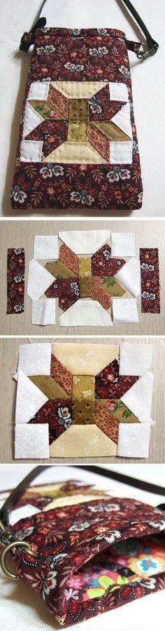 Small Bag Patchwork. Idea for Sewing  http://www.handmadiya.com/2015/08/small-bag-patchwork.html