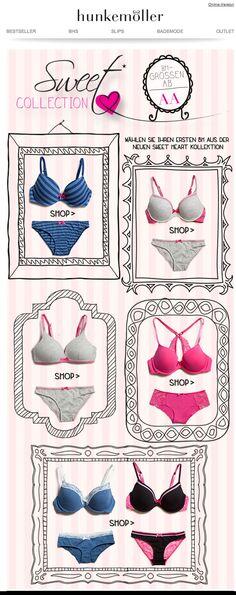 Hunkemoller #lingerie #newsletter #design #sweetheart #email #e-mail www.hunkemoller.nl www.hunkemoller.com