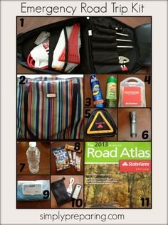 Planning on taking a road trip? Make sure to pack an emergency road trip kit just in case! Road Trip With Kids, Family Road Trips, Travel With Kids, Family Vacations, Family Travel, Road Trip Bingo, Road Trip Essentials, Road Trip Hacks, United Airlines