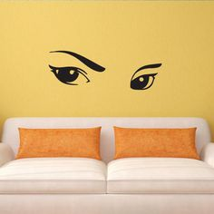 Wall decal decor decals art eyes beauty girl by DecorWallDecals, $28.99