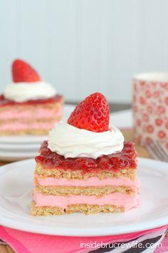 Strawberry Shortcake Eclair Cake