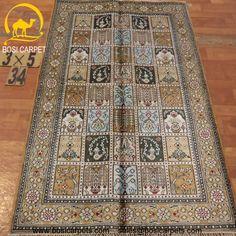 Hand knotted silk rug # Rug No.: P4212# Quality: 150L (156kpsi) # Size: 3x5ft (91x152cm) # Material: 100% Silk # wholesale Price: $240/piece # If you have any interests, please email to sales@bosicarpets.com        Hand-madecarpet#orienatlrug#oldrug#Kashmirrug#Chinacarpet#Iraniancarpet#boteh#HeratiGul# Isfahan#Tabriz#Qum#Nain#Kashan#Kerman#Bijar#Sarouk#Caucasian#antiquecarpet#bosicarpet