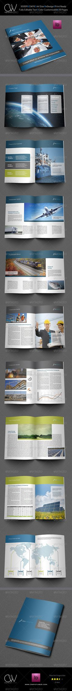 Corporate Brochure Template Vol3 - 20 Pages