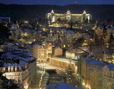 One of the most beautiful places on earth - Karlovy Vary.  And has Grandhotel Pupp (pronounced POOP!)