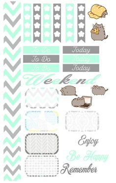 Pusheen Sticker kit