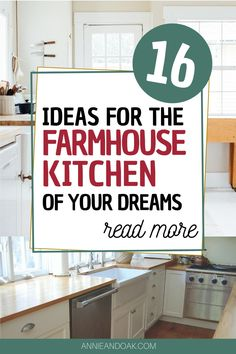 Discover new ways of transforming your farmhouse kitchen at Annie and Oak's 16 Ideas for the Farmhouse Kitchen of Your Dreams. Here at Annie and Oak, we value quality therefore our ideas will surely make you happy beyond measures. Create a new rustic atmosphere and classy vibes to your farmhouse kitchen by just staying with us. Visit us at annieandoak.com for more tips and ideas in setting up your farmhouse kitchen. #farmhousekitchenideas #farmhousekitchendesign #farmhousekitchensinks Vintage Farmhouse Sink, Fireclay Farmhouse Sink, Copper Farmhouse Sinks, Farmhouse Sink Kitchen, Modern Farmhouse Kitchens, Farmhouse Design, Rustic Farmhouse, Retro Kitchen Appliances, Kitchen Countertops