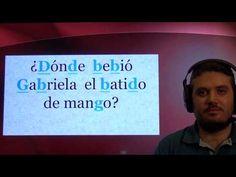 Práctica de pronunciación del español. Repaso de /b/ /d/ /g/ - YouTube