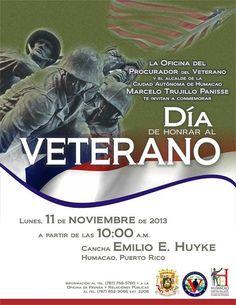 Día en Honor al Veterano @Humacao #sondeaquipr #diadelveterano #humacao #canchaemilioehuyke