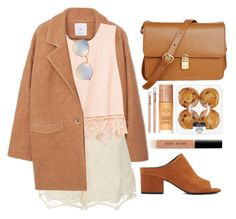"""""""Untitled #1112"""" by andreiasilva07 ❤ liked on Polyvore featuring MANGO, Miguelina, ZOEVA, Lush Clothing, 3.1 Phillip Lim, Retrò, Laura Geller, Ray-Ban and Bobbi Brown Cosmetics"""