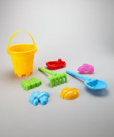 Take a look at this Yellow Sand Barrel Set by Brooklyn Lollipop on #zulily today! $7.99, regular 12.00