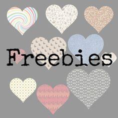 Freebies para ti : Freebies : 20 corazones con papeles preciosos