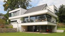 Architektenhaus Satteldach in moderner Architektur bauen