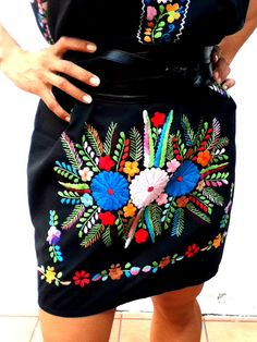 Chelow Mexican Embroidered dress FULL back on Etsy, $130.00